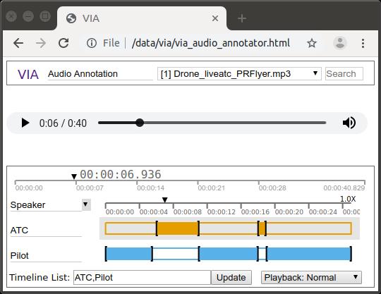 VGG Image Annotator (VIA)